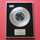 CILLA BLACK - Alfie Platinum Single Presentation Disc